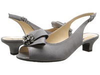 J. Renee Jadan Dark Taupe Glimmer Satin Women's 1 2 Inch Heel Shoes Brown