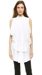 Viktor And Rolf Ruffle Poplin Blouse White