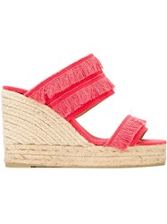 Castaner Castaner Fringed Wedge Sandals Red