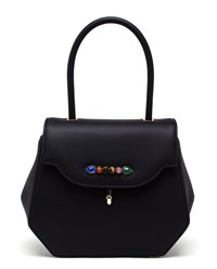 Pramma N1 Calfskin Handbag Black Multicoloured Grey Rose Gold Rose Gold
