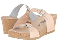 Mephisto Lidia Nude Patent Women's Wedge Shoes Beige