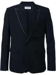 Saint Laurent Studded Lapel Blazer Black