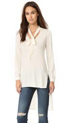 Ella Moss Stretch Stella High Low Blouse Natural