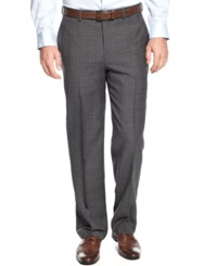 Greg Norman For Tasso Elba Charcoal Plaid Dress Pants Grey