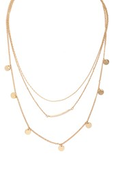 Forever 21 Disc Layered Necklace
