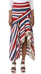 Sass And Bide Two Pennies Skirt Printed Stripe