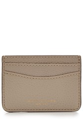 Marc Jacobs Leather Card Holder Beige