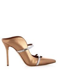 Malone Souliers Maureen Metallic Leather Mules Gold Multi