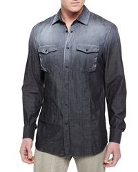 Belstaff Bowman Long Sleeve Degrade Western Shirt