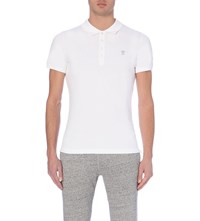 Diesel T Yahei Stretch Cotton Polo Shirt White