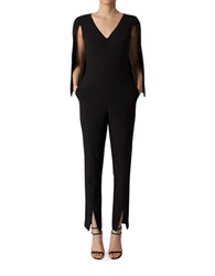 Black Halo Carissa Solid Jumpsuit Black