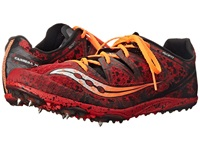 Saucony Carrera Xc Spike Red Orange Men's Running Shoes