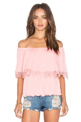 Vava By Joy Han Bambi Off Shoulder Top Pink