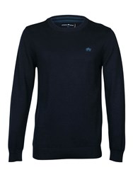 Raging Bull Cotton Cashmere Crew Neck Navy