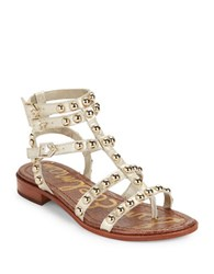 Sam Edelman Eavan Studded Leather Gladiator Sandals Light Gold