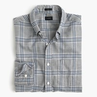 J.Crew Slim Brushed Twill Shirt In Heather Grey Plaid Hthr Grey
