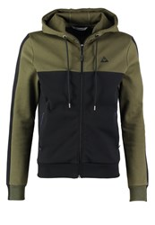 Le Coq Sportif Tech Tracksuit Top Khaki Black