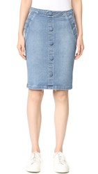Frame Le Pencil Buttoned Skirt Walsh