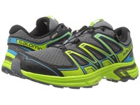 Salomon Wings Flyte 2 Gtx Dark Cloud Granny Green Scuba Blue Men's Shoes Gray