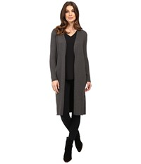 Vince Camuto Long Sleeve Ribbed Maxi Cardigan Medium Heather Grey Women's Sweater Gray