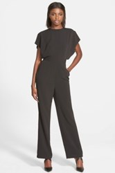 Cameo 'Wild World' Belted Jumpsuit Juniors Black