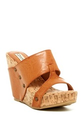 Groove Aaron Wedge Sandal Brown