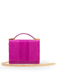 Brian Atwood Aston Snakeskin Crossbody Bag