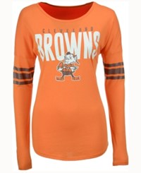 47 Brand '47 Women's Cleveland Browns Courtside Long Sleeve T Shirt Orange