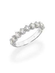De Beers Allegria Diamond And Platinum Half Band Ring