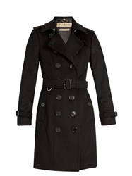 Burberry Sandringham Long Cashmere Trench Coat Black