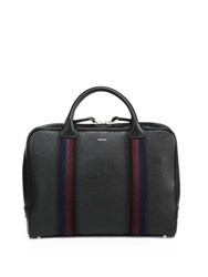 Paul Smith Pebble Textured Leather Briefcase Blue