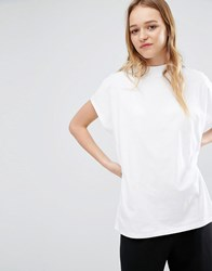 Weekday High Neck T Shirt White