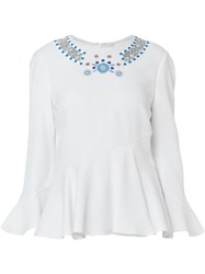 Peter Pilotto Embroidered Collar Blouse White