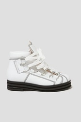 Opening Ceremony Kali Multi Ring Lace Up Platform Boots White