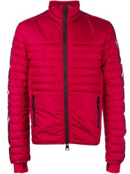 Rossignol Contrast Stripe Sleeve Padded Jacket Red
