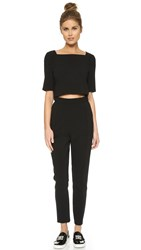 Black Halo Bilzen Two Piece Jumpsuit Black