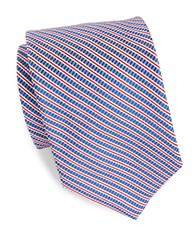 Brooks Brothers Striped Textured Tie Blue