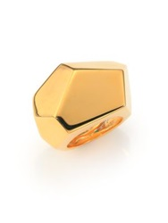 Kenneth Jay Lane Geometric Statement Ring Gold