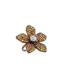 Mcl By Matthew Campbell Laurenza Garden Of Spring And Summer Sapphire Flower Ring
