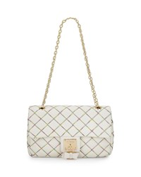 Betsey Johnson Cotton Candy Quilted Shoulder Bag Cream Ivory
