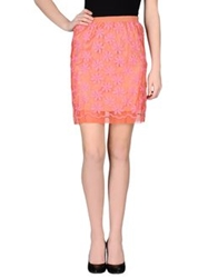 Patrizia Pepe Knee Length Skirts Coral