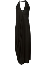 Lost And Found Long Draped Dress Black