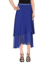 Le Ragazze Di St. Barth Skirts 3 4 Length Skirts Women Bright Blue