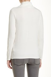 In Cashmere Long Sleeve Turtleneck Tee White