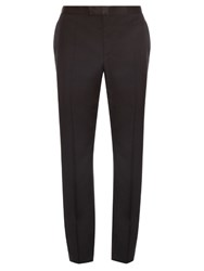 Alexander Mcqueen Slim Fit Wool And Mohair Blend Tuxedo Trousers Black