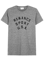 Rxmance Sport Grey Printed Cotton Blend T Shirt