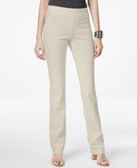 Inc International Concepts Curvy Pull On Straight Leg Pants Only At Macy's Toad Beige