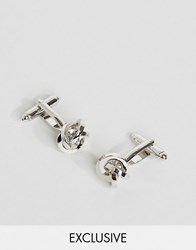 Reclaimed Vintage Knot Cufflinks In Silver Silver