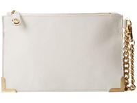 Foley Corinna Framed Wristlet Clutch White Clutch Handbags