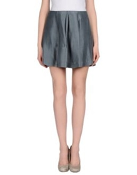 Beayukmui Mini Skirts Grey